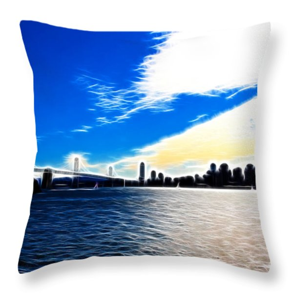 The City By The Bay Throw Pillow by Wingsdomain Art and Photography