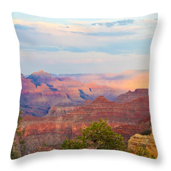 The Colors Of The Canyon Throw Pillow by Heidi Smith