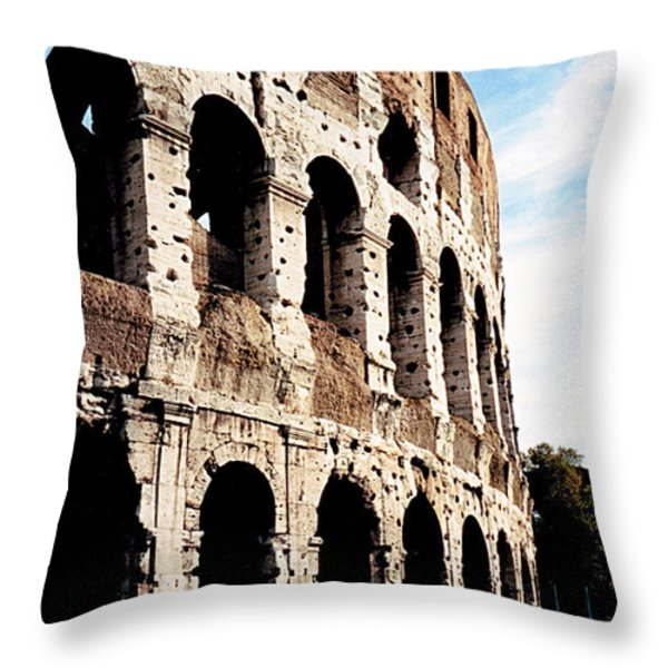 The Colosseum Throw Pillow by Donna Proctor