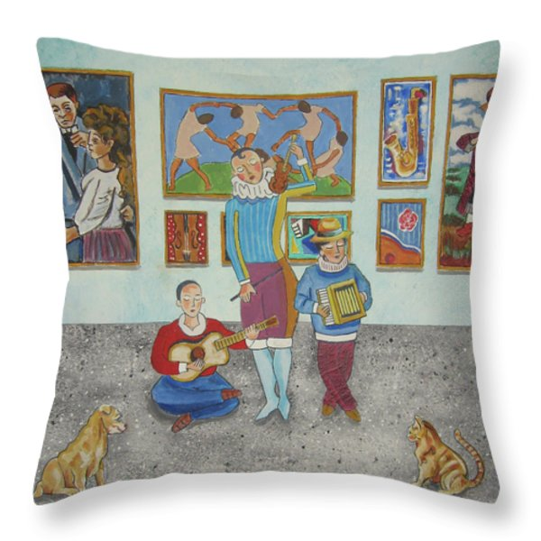The Concert Throw Pillow by John Keaton