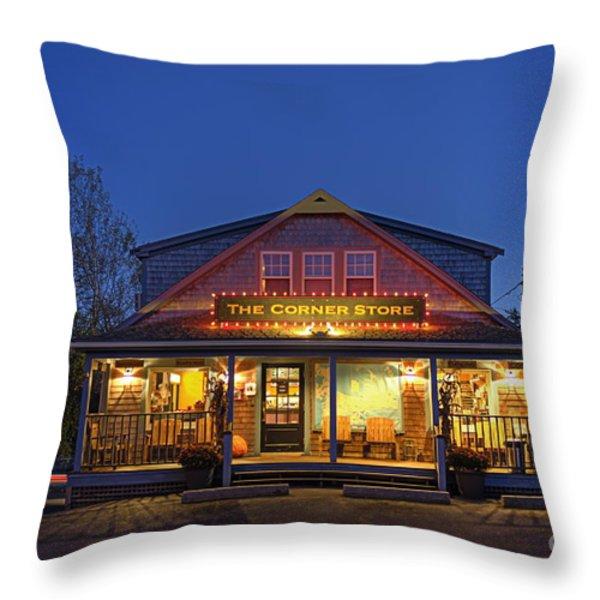 The Corner Store  Throw Pillow by John Greim