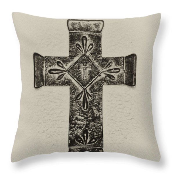 The Cross Throw Pillow by Bill Cannon