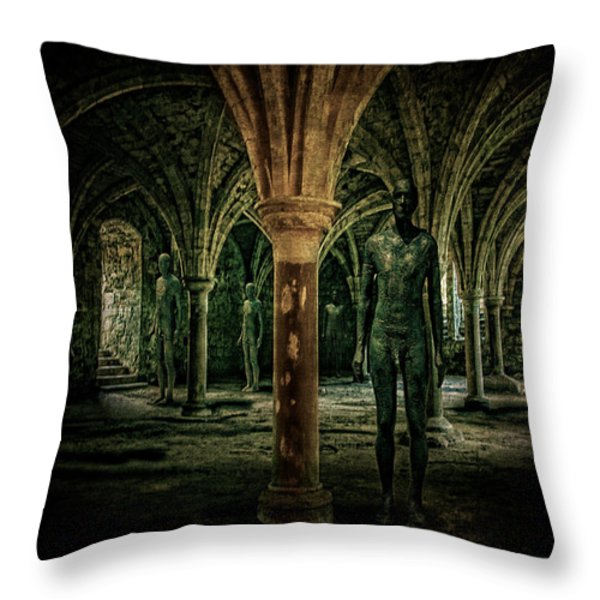 The Crypt Throw Pillow by Chris Lord