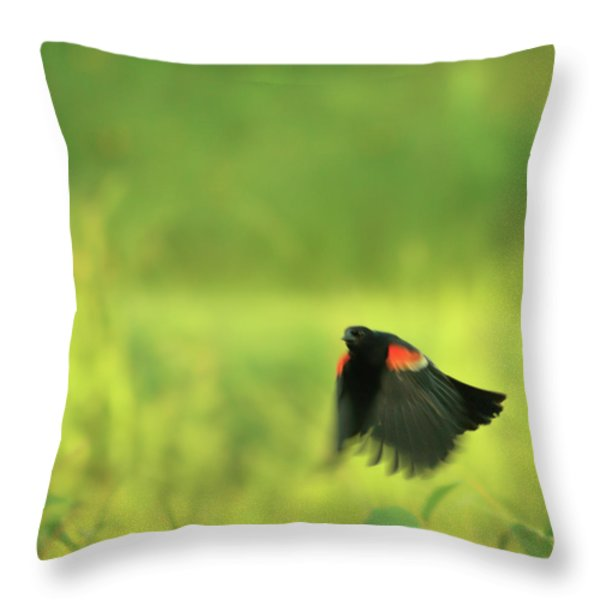 The Dancer Throw Pillow by Aimelle