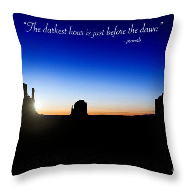 The Darkest Hour..... Throw Pillow by Jane Rix