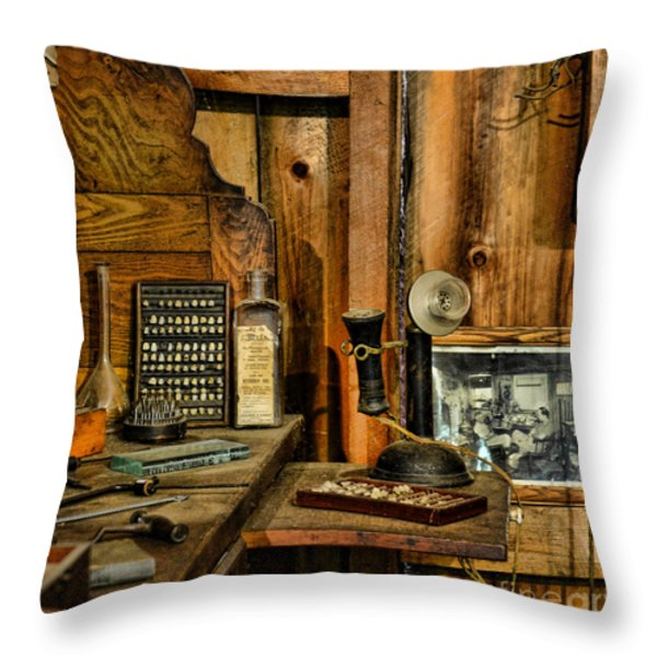 The Dentist Office Throw Pillow by Paul Ward