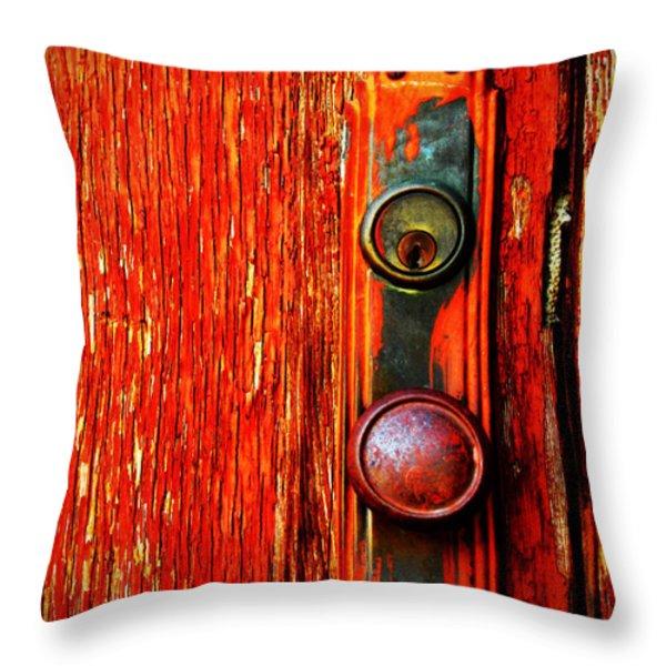 The Door Handle  Throw Pillow by Tara Turner