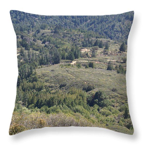 The Double Bow Knot On Mount Tamalpais Throw Pillow by Ben Upham