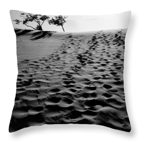 The Dunes At Dusk Throw Pillow by Tara Turner