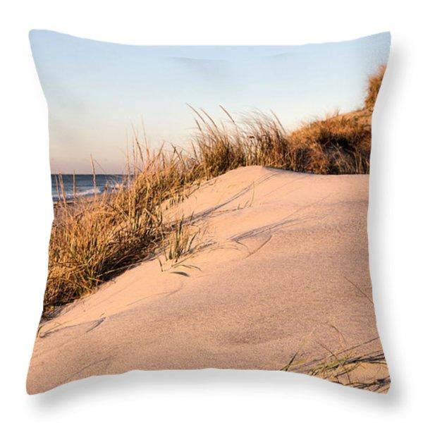 The Dunes of Jones Beach Throw Pillow by JC Findley