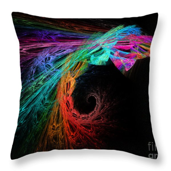 The Eagle Rainbow Throw Pillow by Andee Design