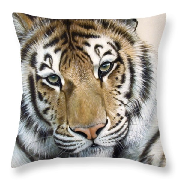 The Embrace Throw Pillow by Sandi Baker