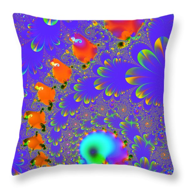 The Enchanted Forest . S8 Throw Pillow by Wingsdomain Art and Photography