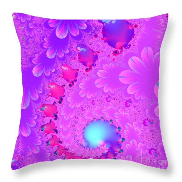 The Enchanted Forest . Version 2 . Square . S8 Throw Pillow by Wingsdomain Art and Photography