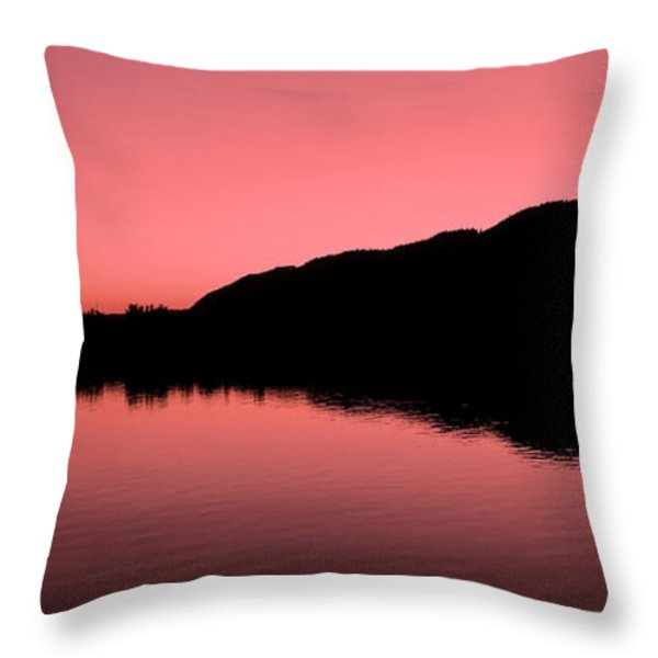 The End of the Day ... Throw Pillow by Juergen Weiss