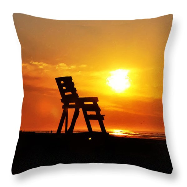 The End Of The Summer Throw Pillow by Bill Cannon