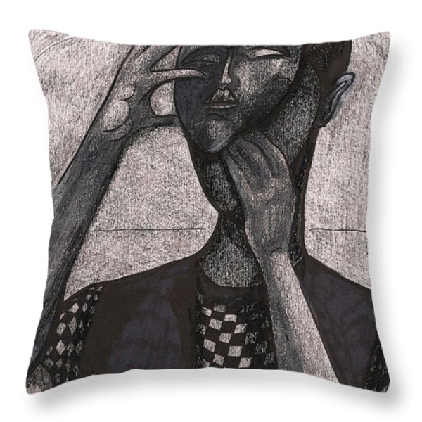 The Face Behind The Mask Throw Pillow by Al Goldfarb