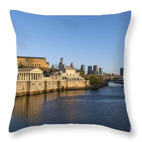 The Fairmount Water Works Throw Pillow by John Greim