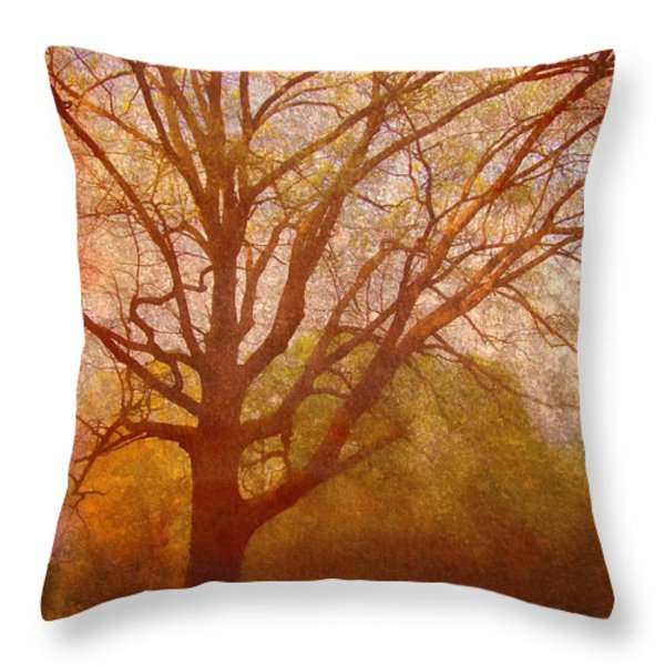 The Fairy Tree Throw Pillow by Brett Pfister