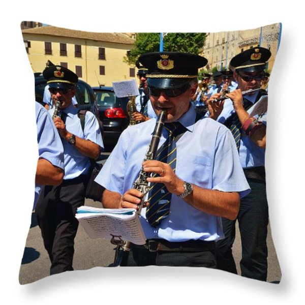 The fanfare Throw Pillow by Dany  Lison
