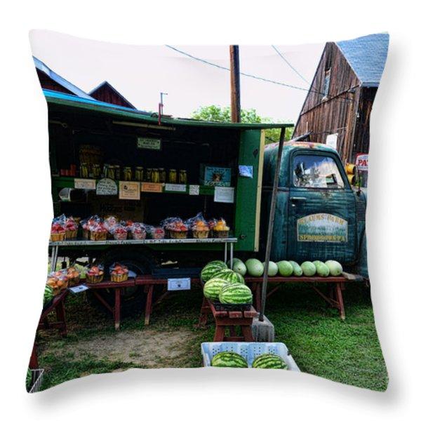 The Farmer's Truck Throw Pillow by Paul Ward