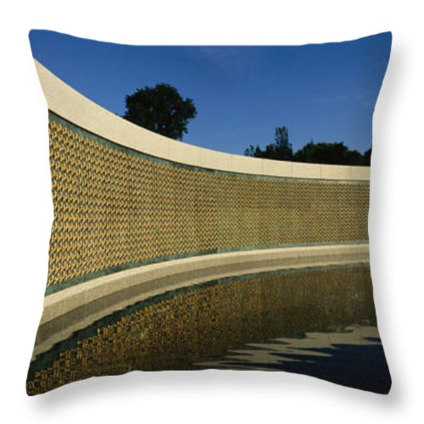 The Field Of Stars On The Freedom Wall Throw Pillow by Richard Nowitz