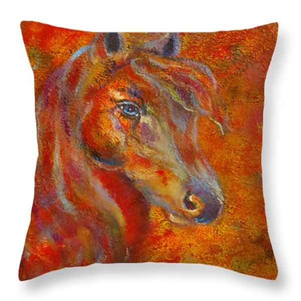 The Fire Of Passion Throw Pillow by The Art With A Heart By Charlotte Phillips