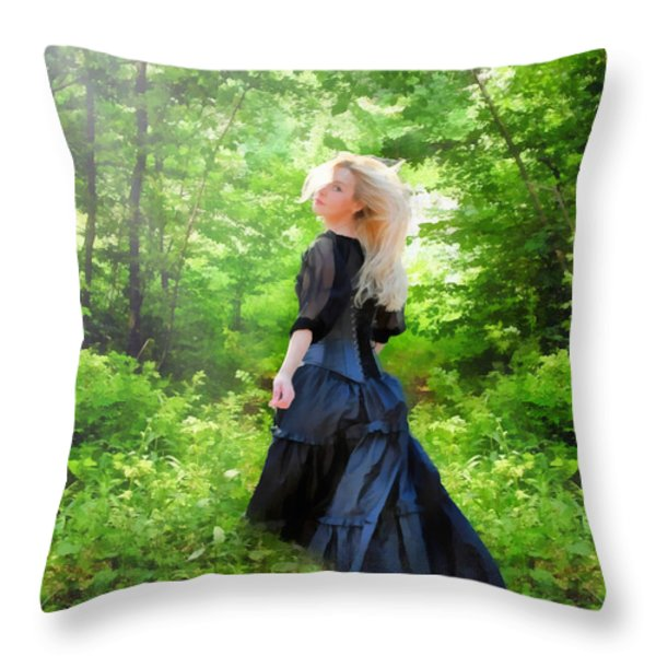 The Forest Beckons Throw Pillow by Nikki Marie Smith