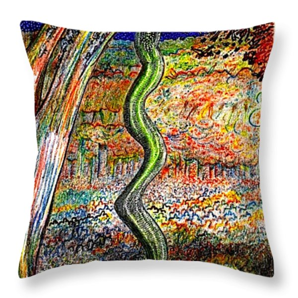 The Forest Lord Demonstrates Throw Pillow by Al Goldfarb
