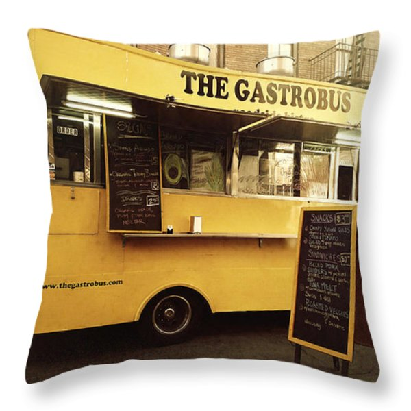 The Gastrobus Throw Pillow by Nina Prommer