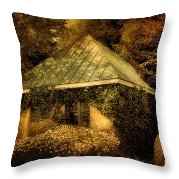 The Gatehouse Throw Pillow by Lois Bryan