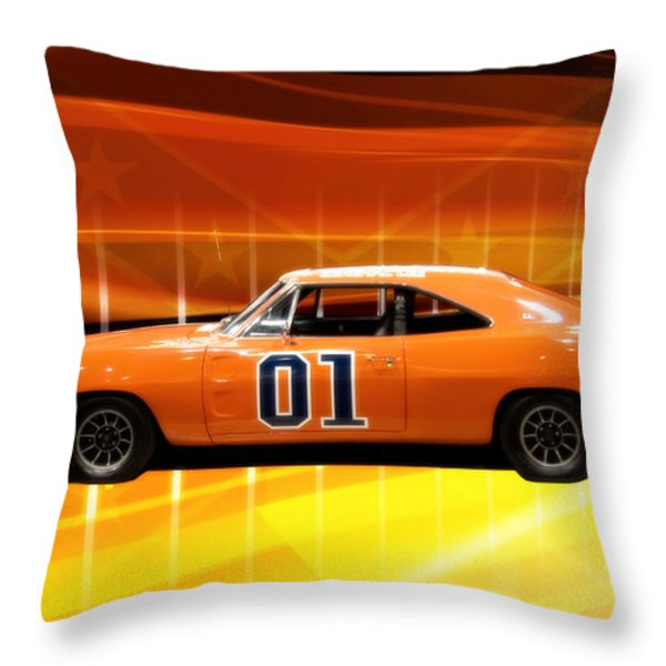 The General Lee Throw Pillow by Joel Witmeyer