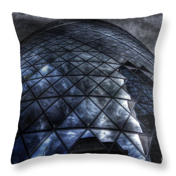 The Gherkin - Neckbreaker View Throw Pillow by Yhun Suarez