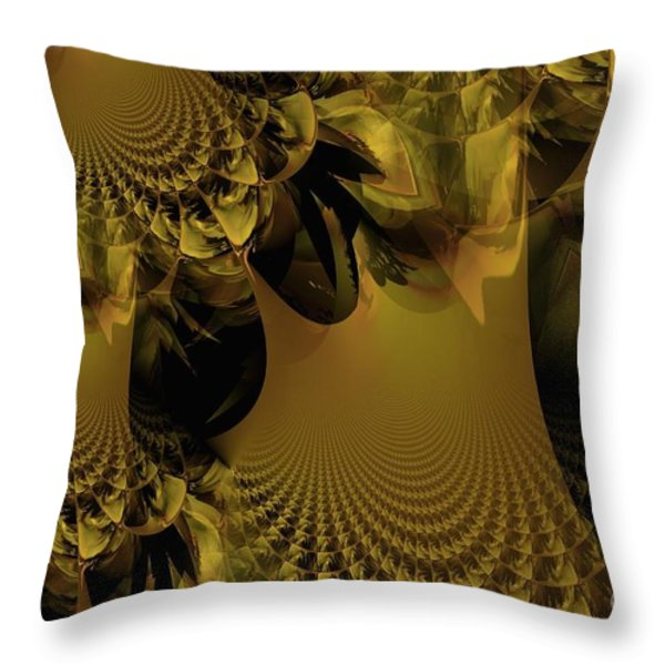 The Golden Mascarade Throw Pillow by Maria Urso