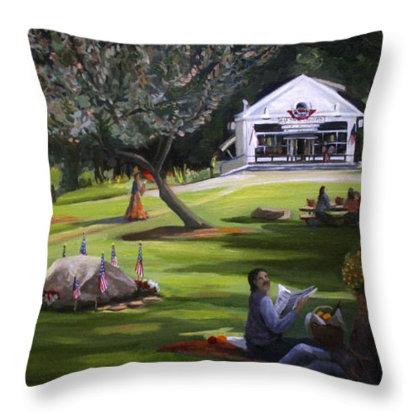 The Granville Green Throw Pillow by Nancy Griswold