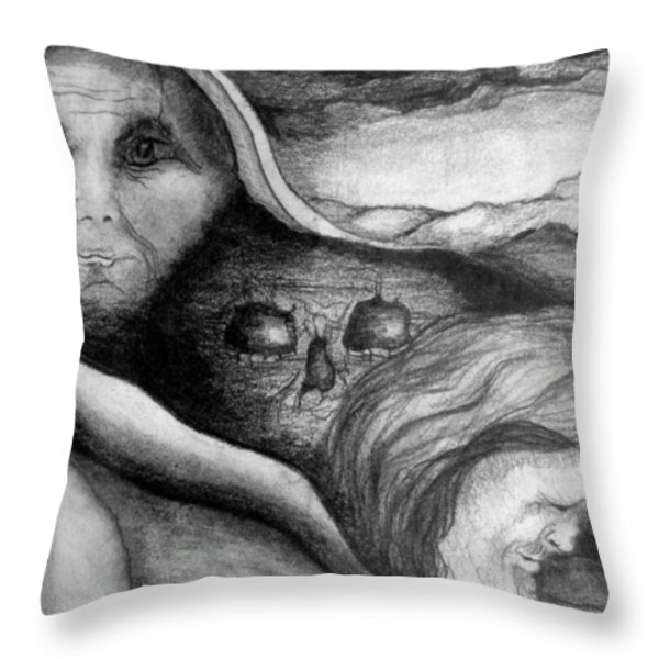 The Great Lie Throw Pillow by Rory Sagner