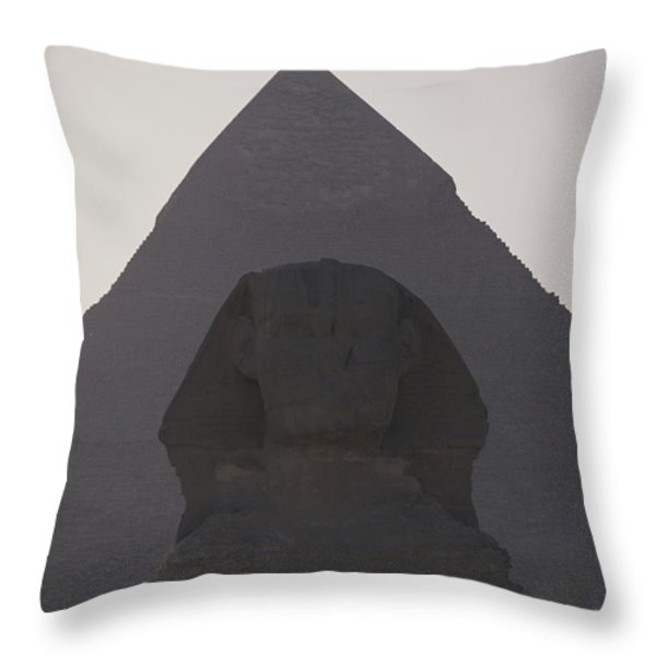 The Great Sphinx Is Framed Throw Pillow by Stephen St. John