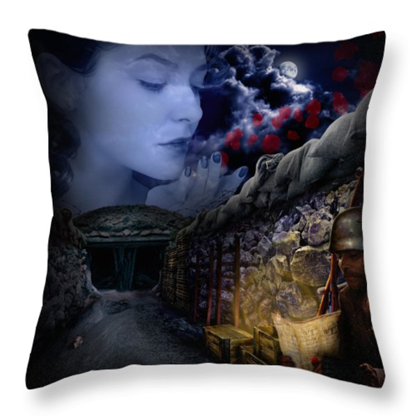The Guardian Throw Pillow by Alessandro Della Pietra