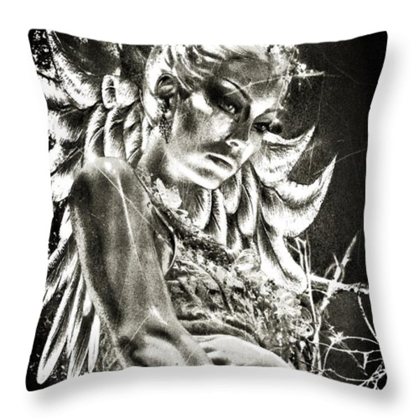 The Guardian Throw Pillow by Tisha McGee