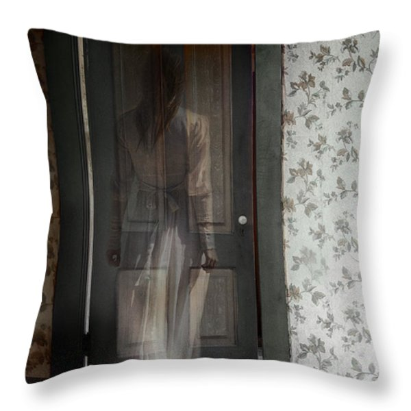 The Haunting Throw Pillow by Margie Hurwich
