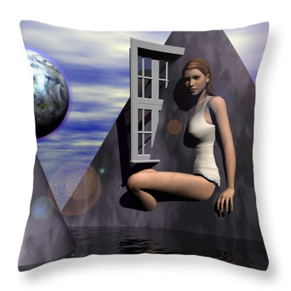 The Heroine Of The Trinity Throw Pillow by Jon Became the Anti-Christ