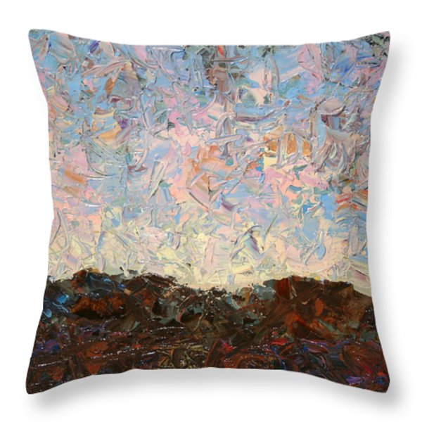 The Hills Throw Pillow by James W Johnson