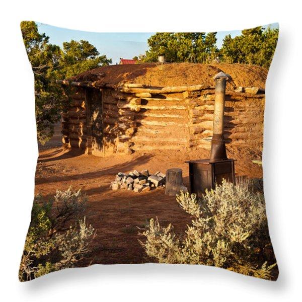 The Hogan Near Spider Rock Throw Pillow by  Bob and Nadine Johnston