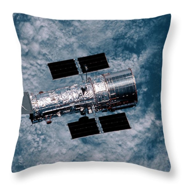 The Hubble Space Telescope Throw Pillow by Nasa