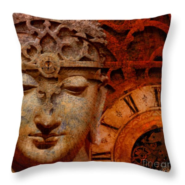The Illusion of Time Throw Pillow by Christopher Beikmann