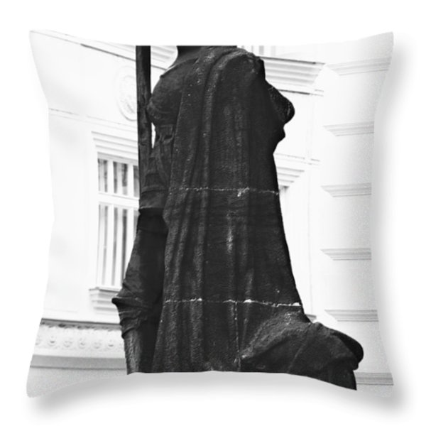 The Iron Knight - Darth Vader Watches Over Prague Cz Throw Pillow by Christine Till
