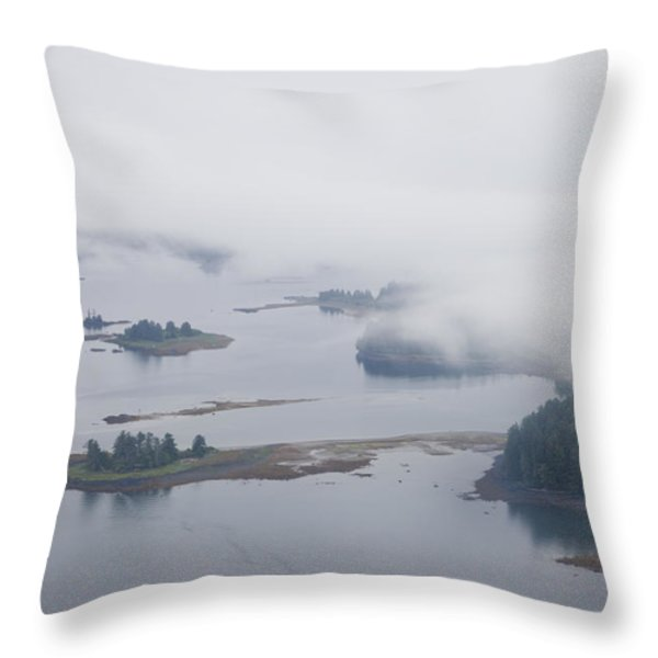 The Islands Of The Inside Passage Throw Pillow by Taylor S. Kennedy