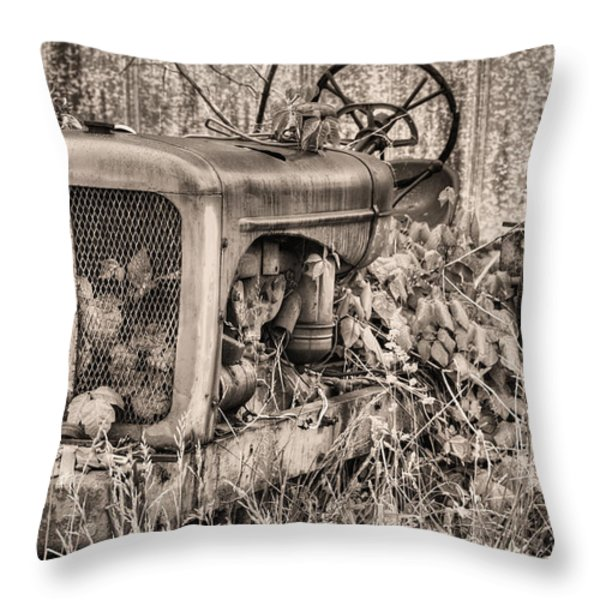 The Ivy League Bw Throw Pillow by JC Findley