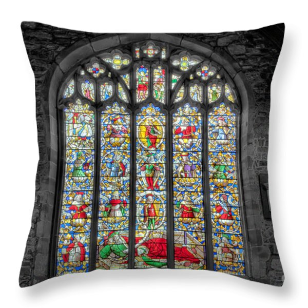 The Jesse Window  Throw Pillow by Adrian Evans