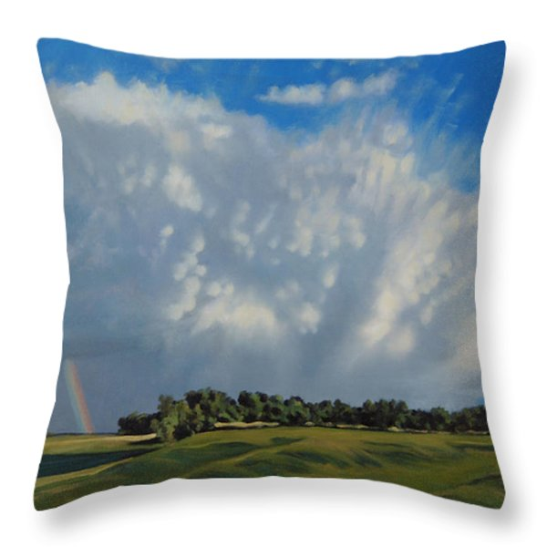 The June Rains Have Passed Throw Pillow by Bruce Morrison